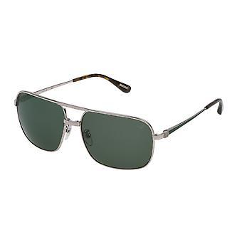 Dunhill SDH100 0539 Shiny Palladium Green Parts/Grey Green Sunglasses