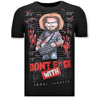 T-paita - Bloody Chucky Print - Musta