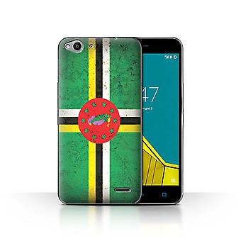 STUFF4 Case/Cover for Vodafone Smart Ultra 6/Dominica/Dominican/Americas Flag