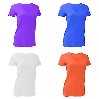Bella Ladies/Womens Deep V-Neck Jersey T-Shirt