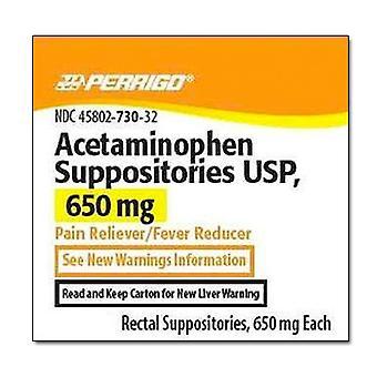Perrigo acetaminophen suppositories usp, 650 mg, 12 ea