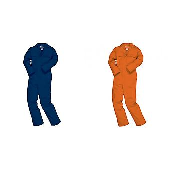 Portwest Mens Bizweld Flame Retardant Coverall / Workwear (Pack of 2)