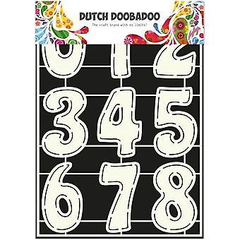 Dutch Doobadoo Dutch Stencil Art numbers A4 470.455.003