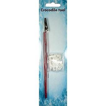 Nellie's Choice Crocodile tool set 2 pcs/pkg with 50 pompoms CROC002