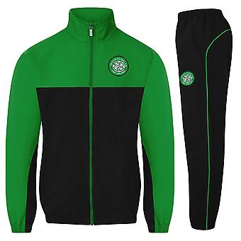 Celtic FC Official Football Gift Boys Jacket & Pants Tracksuit Set