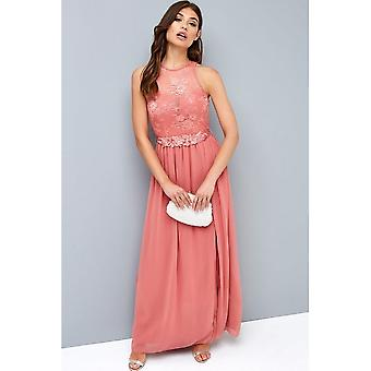 Little Mistress Naisten/Naisten Rose Lace Maxi Mekko