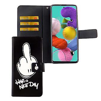 Samsung Galaxy A71 case puhelimen tapauksessa suojaava kansi läppä kotelo kortti tarjotin on mukava päivä