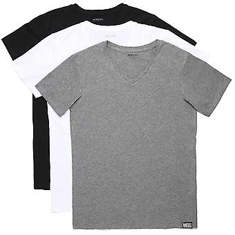 DIESEL UMTEE Michael 3-Pack V-Neck T-Shirt, Multicolorido, X-Large