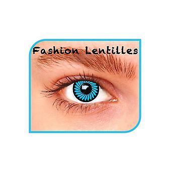 Special effect contactlenzen Blue Zoom Lenses 1 dag