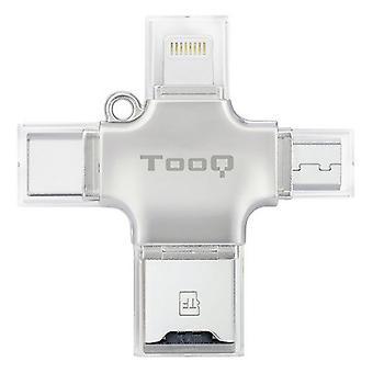 Ulkoinen kortinlukija TooQ TQR-4001 Hopea