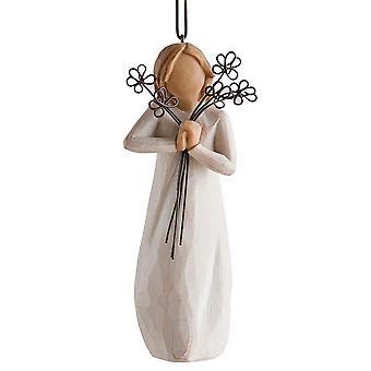 Figurine suspendue de figurine d'amitié de willow d'arbre