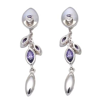 Tuscany Silver Women's Pendant Earrings in Silver Sterling 925 - with Cubic Zirconium 8.58.2742
