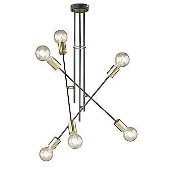 Wofi Tanil - 6 Light Flush Ceiling Light - 9565.06.46.8200
