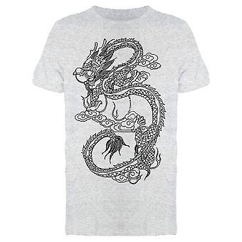 Flying Kinesiska Dragon Drawing Tee Men & apos; s -Bild av Shutterstock
