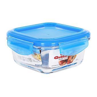 Hermetische lunchbox Quttin Squared Crystal Blue/310 cc -12 x 12 x 6 cm