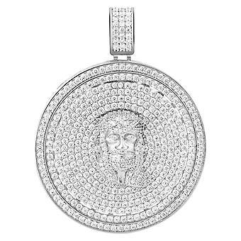 925 Sterling Silver Micro Pave Riipus - CELESTIAL JESUS