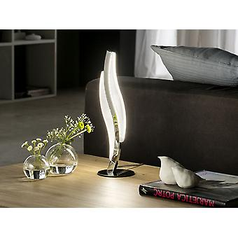 Schuller Sintra - Lampe de table en aluminium et métal chromé. Diffuseur acrylique opale. Plug type G (Royaume-Uni). LED 8,6W. 600 lm. 4.000K - 697825UK