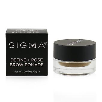 Sigma Beauty Define + Pose Brow Pomade - # Medium - 2g/0.07oz