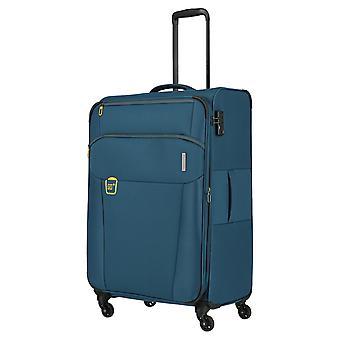 travelite Go Trolley L, 4 Rollen, 77 cm, 89  L, Petrol