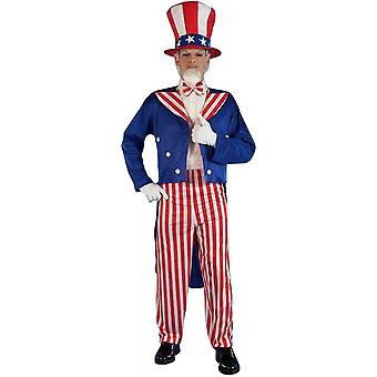 Uncle Sam Adult kostym - 10884