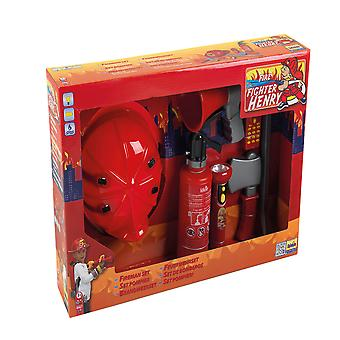 theo klein firefighter henry play set with 7pcs red role play 3 years+