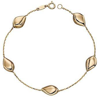 Elements Gold Multi Pebble Bracelet - Gold