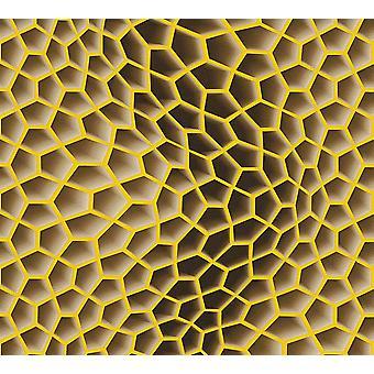 3D geometrische Retro Funky Tapetenkleister der Wand Textured Vinyl AS Creation