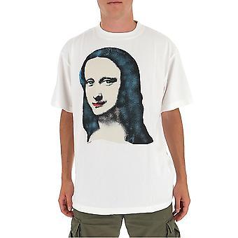 Off-white Omaa038e20jer0100110 Männer's weiße Baumwolle T-shirt