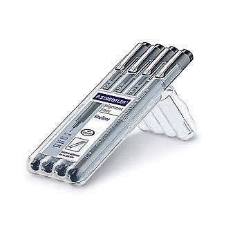 Staedtler Pigment Liner Technische tekening pen 4 maten 0,1 mm tot 0,7 mm