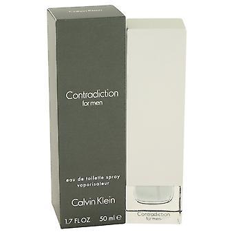 CONTRADICTION by Calvin Klein Eau De Toilette Spray 1.7 oz / 50 ml (Men)