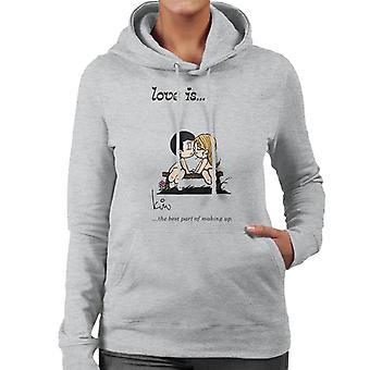 Kærlighed er den bedste del af at gøre op Women's Hooded Sweatshirt