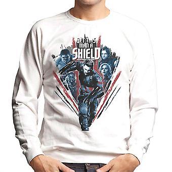Marvel Avengers Infinity War Captain America Get This Man A Shield Men's Sweatshirt