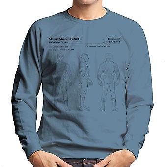 Bewundern Sie Black Panther orthogonalen Patent Herren Sweatshirt
