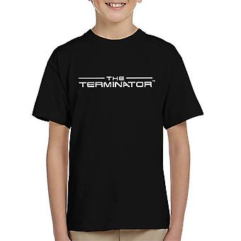 The Terminator Title Font Logo Text Kid's T-Shirt