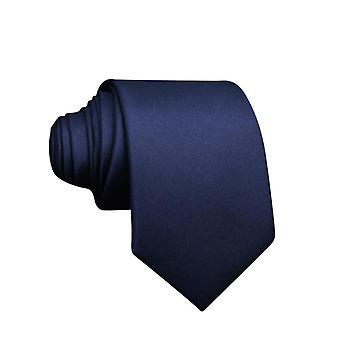 Tie 100% silkki - Tummansininen