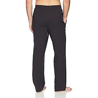 Essentials Men's stricken Pyjama Hose, Kohle Heather, Medium