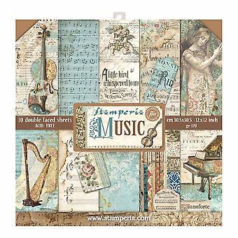 Pacchetto carta music 12x12 Inch (SBBL48)