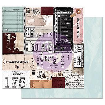 Prima Marketing Midnight Garden 12x12 Inch Sheets Traveling Tickets