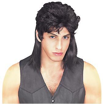 1980 Mullet Redneck bogan valkoinen Trash Rock Star musta miesten puku Peru ukki
