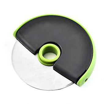 Plastic Handle Stainless Steel Pizza Single Wheel Cutter Green