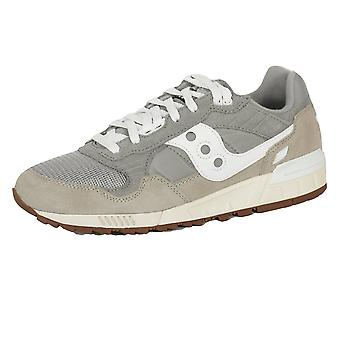 Saucony men's grey and white shadow 5000 trainers