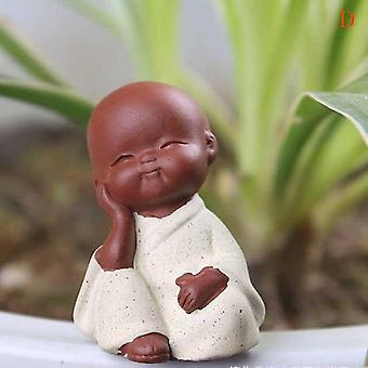 Mini Chinese Buddhism Zen Monks Statues - Little Meditation Monk Miniature