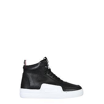 Thom Browne Mfd182a06257001 Heren's Zwart leer Hi Top Sneakers