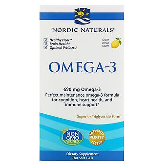 Nordic Naturals, Omega-3, Citroen, 690 mg, 180 Zachte Gels