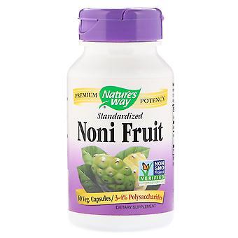 Nature's Way, Noni Fruit, Standardisiert, 60 Veg Kapseln