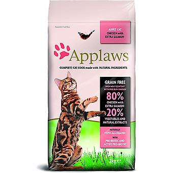Applaws Dry Adult Cat - Kip en zalm - 2kg