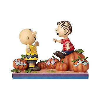 Jim Shore Peanuts Charlie Brown & Linus Pumpkin Statue Figurine