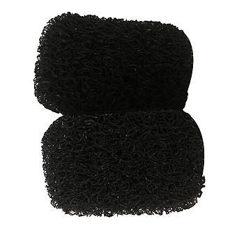 2PCS PVC szappanvédő párna fekete 7.5x11.5CM