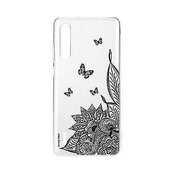 skrog til xiaomi mi 9 myk lite mandala blomst og svart sommerfugl