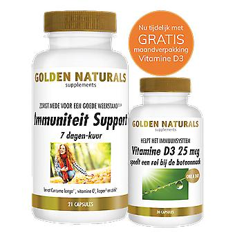Golden Naturals Immunity Support 7 Days Course of Treatment (21 Vegetarian Capsules)
